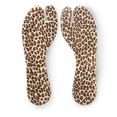 PedaBella Fabric Covered Gel Thong Sandal Insoles (leopard)