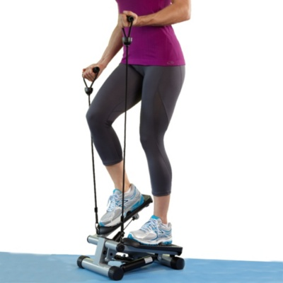Mini-Stair Stepper with Resistance Bands