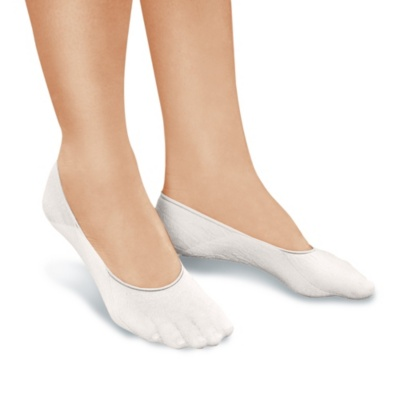 PedaBella peda bella seam-free sheer loafer socks white