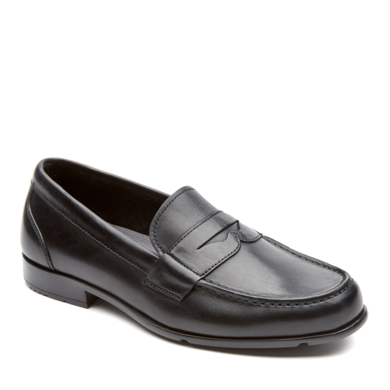 Rockport Classic Loafer Penny Slip-On Shoes - Black