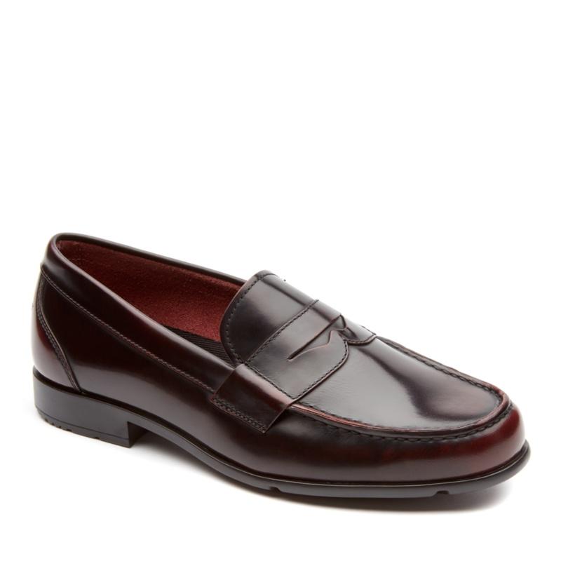 Rockport Classic Loafer Penny Slip-On Shoes--Burgundy,14