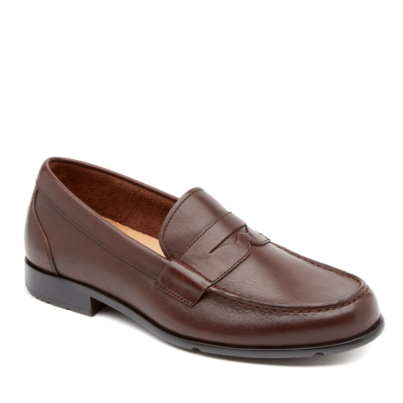 Rockport Classic Loafer Penny Slip-On Shoes--Coach Brown,12