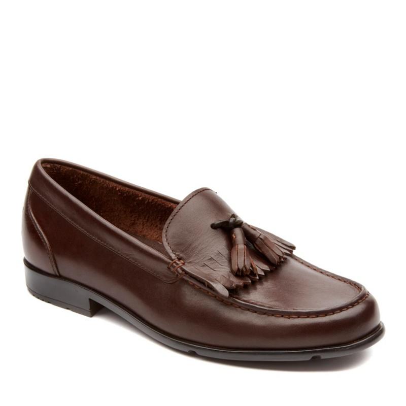 Rockport Classic Loafer Tassle Slip-On Shoes--Brown,13