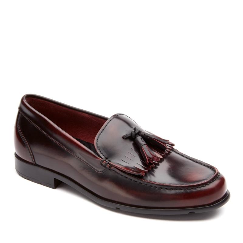 Rockport Classic Loafer Tassle Slip-On Shoes--Burgundy,12