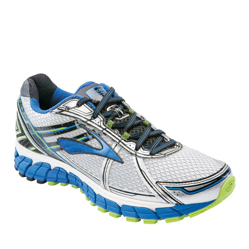 Brooks Adrenaline GTS 15 Running Shoes--Wht - Blu - Lime,10