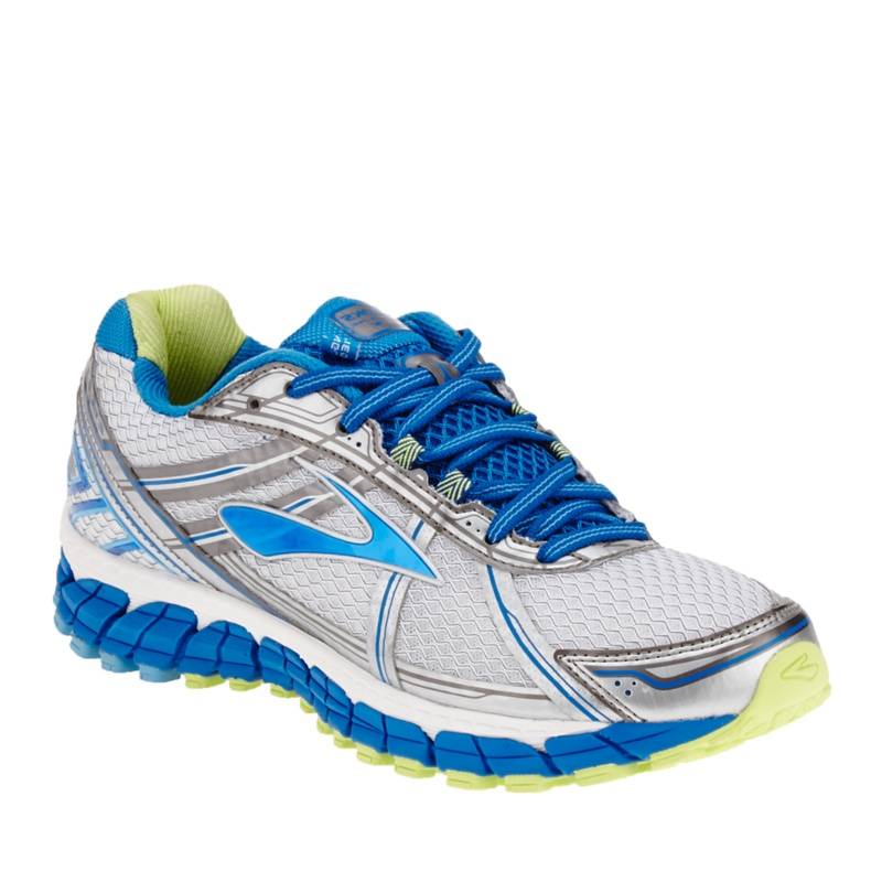 Brooks Adrenaline GTS 15 Running Shoes--White - Blue, 10 - 10
