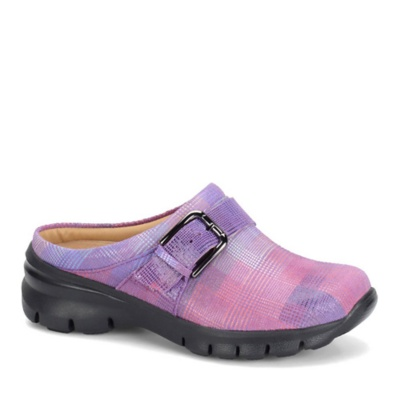 Nurse Mates Linzi Slip-On Shoes (pink plaid)