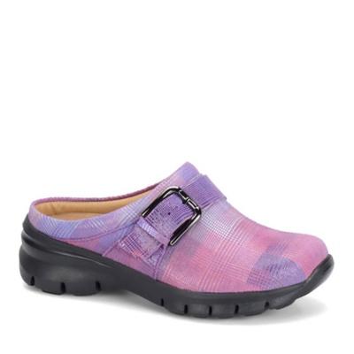 Nurse Mates Linzi Slip-On Shoes (pink plaid)