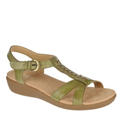 Luxury Naturalizer Women39s Gesture Sandals In Saddle Tan Atanado Veg Leather