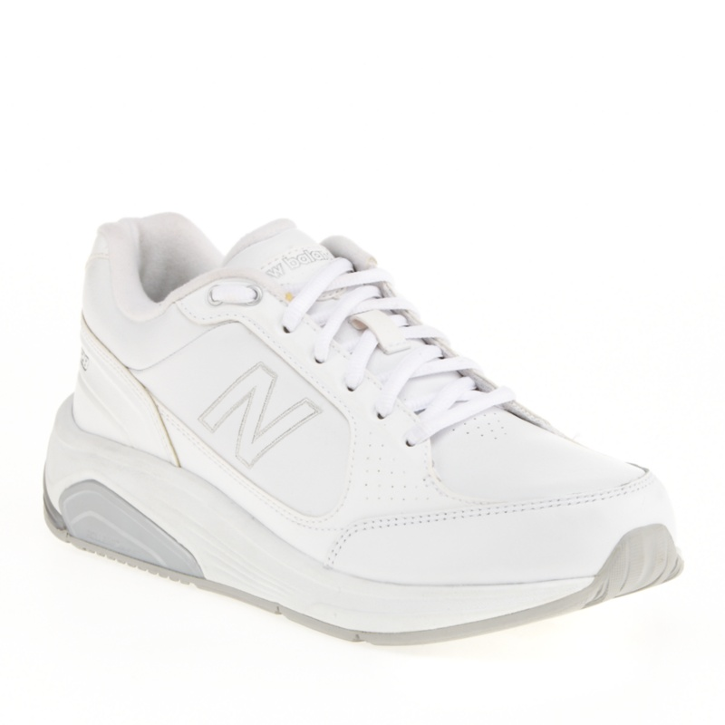 New Balance 928 Tie Walking Shoes (Women's)--White Leather, 8 - 8