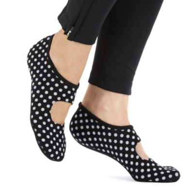 Nufoot Barefoot Women's Black/White Dot Multicoloured House/Lounge Socks Indoor Indoor Women's 6-7--Black - White Dot, Women's 6-7 - Women's 6-7