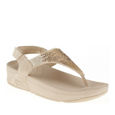 fitflop flare backstrap sandals - pebble