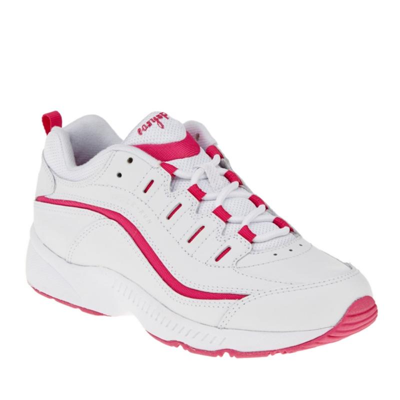 Easy Spirit Women's Romy Walking Shoes--White - Dark Pink,7.5