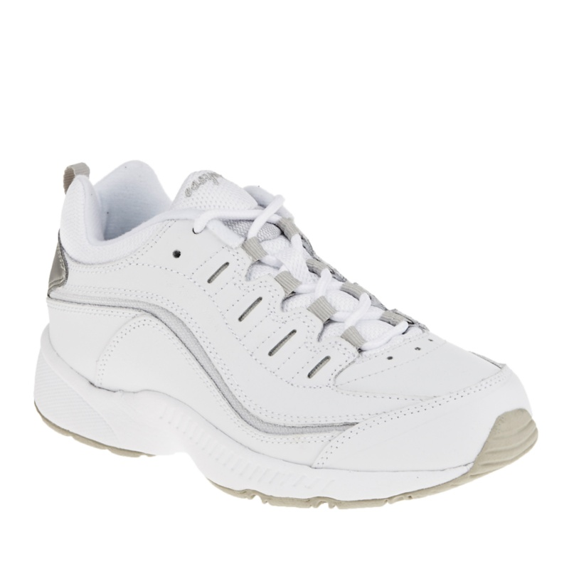 Easy Spirit Women's Romy Walking Shoes - White - Light Grey - 7 M/B