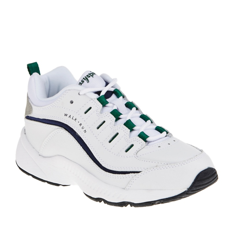 Easy Spirit Women's Romy Walking Shoes - White - Navy - Forest - 8 M/B
