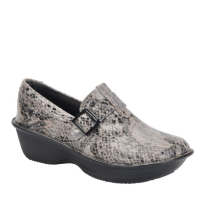 Nurse Mates gelsey slip-on - pewter snake