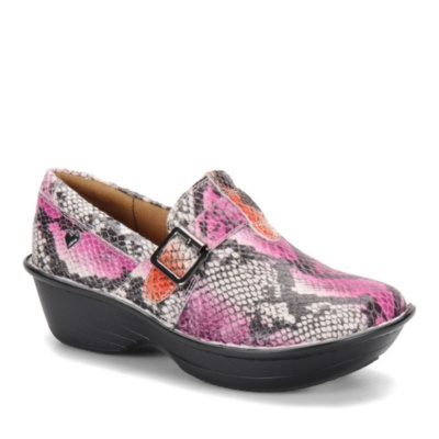 Nurse Mates Gelsey Slip-On Shoes (pink snake)