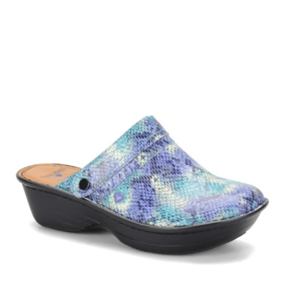 Nurse Mates Gala Slip-On Shoes (aqua snake)