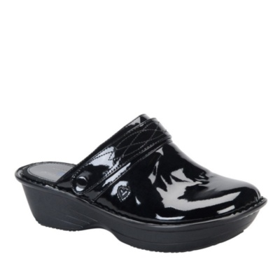 Nurse Mates gala slip-on - black patent