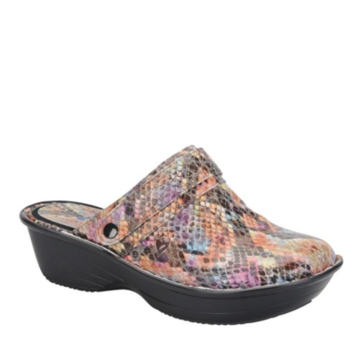 Nurse Mates Gala Slip-On Shoes (rainbow snake)