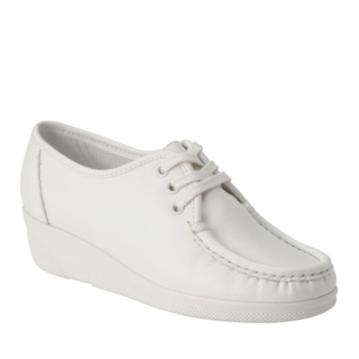 Nurse Mates anni high lace-up - white