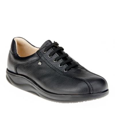 Finn Comfort Black Panama Men's Watford Lace-Up Shoes