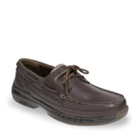 Dunham BROWN LEATHER Shoreliine Boat Shoes