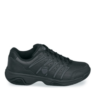 K-Swiss BLACK/GRAY Grancourt II Tennis (Men's) (black gray)