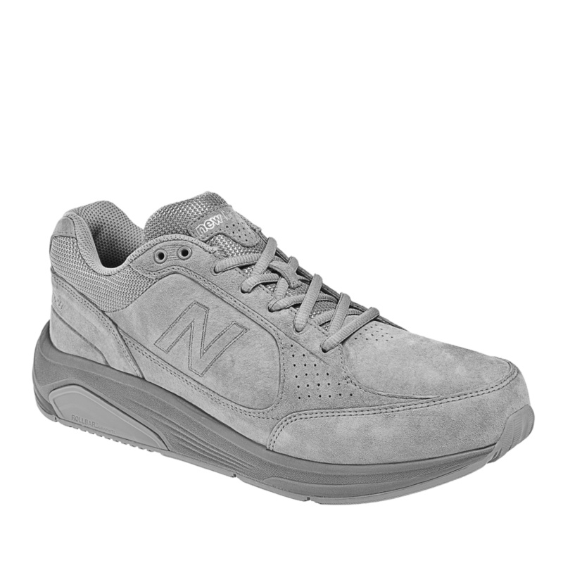 New Balance 928 Tie Walking Shoes (Men's)--Grey Nubuck,11.5