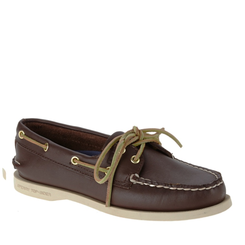 Sperry Top-Sider A - O Leather Boat Shoes--Brown, 5 - 5