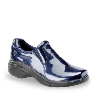 Nurse Mates dove slip-on clog sneakers - metallic patent