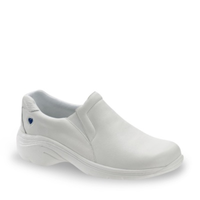 Nurse Mates dove slip-on clog sneakers - white