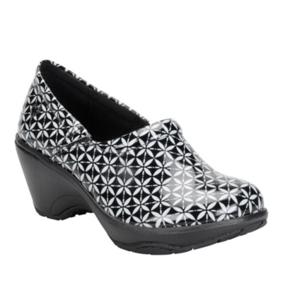 Nurse Mates bryar slip-on clog - black kaleidoscope