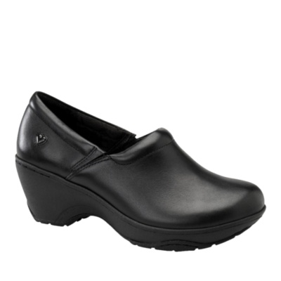 Nurse Mates Bryar Slip-On Clog Shoes (black leather)