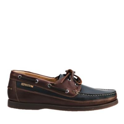 Mephisto Black/Oak Men's Boating Boat Shoes