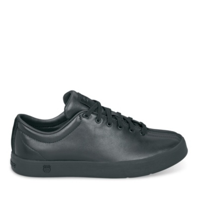 clean classic lace-up - black black