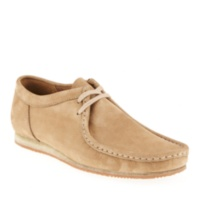 Clarks TAUPE NUBUCK Men's Wallabee Run Oxford Shoes