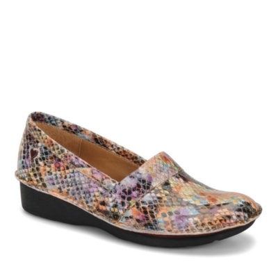 Nurse Mates Rene Slip-On Shoes (rainbow snake)