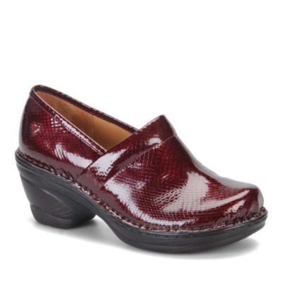 Nurse Mates Halle Slip-On Shoes (wine patent)