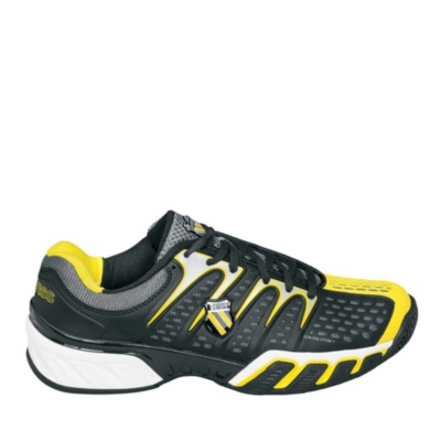 K-Swiss BLACK/YELLOW Bigshot II Tennis (Men's) (black yellow)