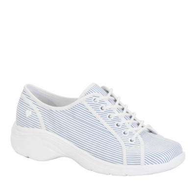 Nurse Mates Daisy Lace-Up Shoes (blue stripe)